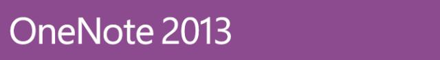 OneNote 2013 Banner